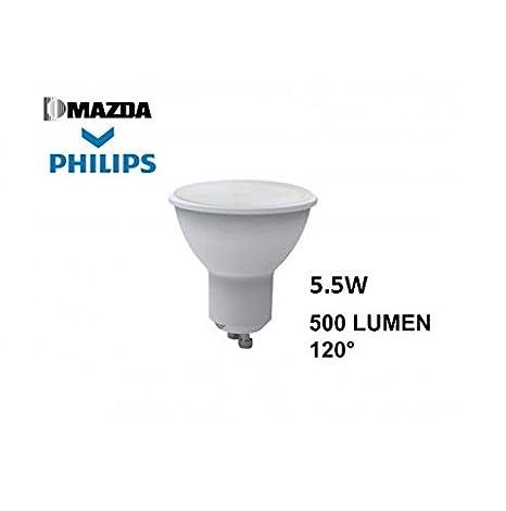 Lámpara LED GU10 Lum 70 W 2700 K 500 lm (Mazda Cod. mzdgu1070827120)