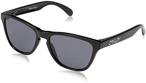 Oakley Youth Boys OJ9006 Frogskins XS Round Sunglasses, Polished Black/Grey, 53 ()