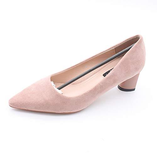 Yukun Schuhe mit hohen Absätzen Herbst Einzelne Schuhe Wies Schuhe Hochhackige Formale Arbeit Schuhe Flacher Mund Mode