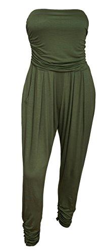 EVogues Plus Size Jumpsuit Olive - 2X