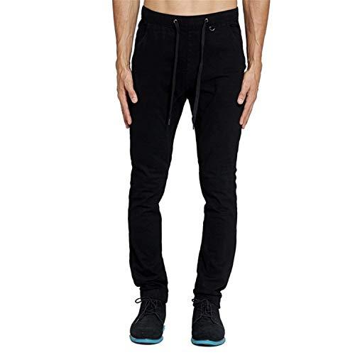 Uomo Donna Jogging Comodo Coulisse Vita Elastico Pantaloni Lunghi Nero Casual Harem In Battercake Da Slim Sportivi Con ZwzYnZB8