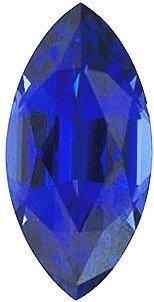 Marquise Shape Chatham Blue Sapphire Gemstone Grade GEM, 12.00 x 6.00 mm