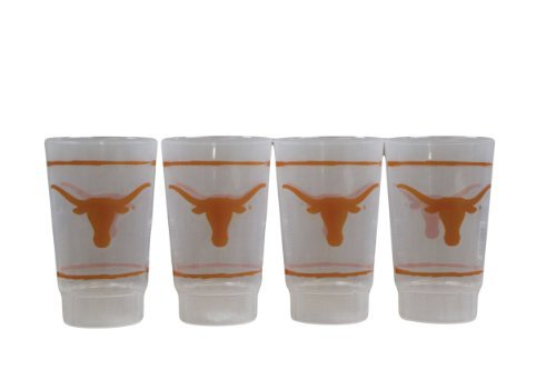 NCAA Texas Longhorns 16oz Plastic Tumbler Set