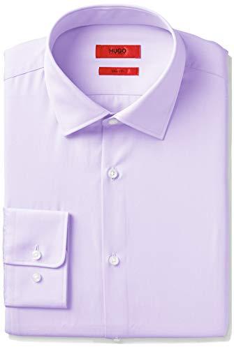 HUGO by Hugo Boss Men's Dress Shirt, Coastal Purple 15.5L