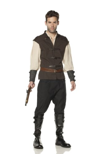 Mystery House Hansel Witch Hunter Costume, Brown/Black, Large (Sexy Hunter Costume)
