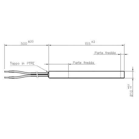 LLI xodo-candeletta Widerstand Durchm 10/mm 300/W 155/mm Pellet/öfen vom Zotto/ F /Edilkamin