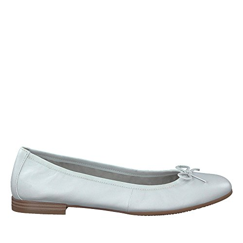 Scarpa Donna Leath 127 1 Bianco 22116 Décolleté 1 20 white Leath 127 Tamaris White UFBwSWqq