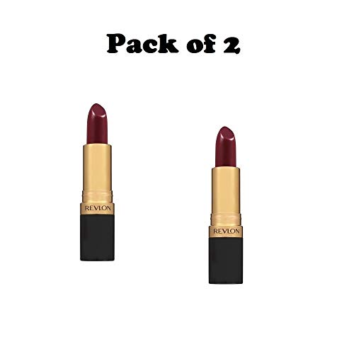 Pack of 2 Revlon Super Lustrous Lipstick, 046 Bombshell Red (Creme)