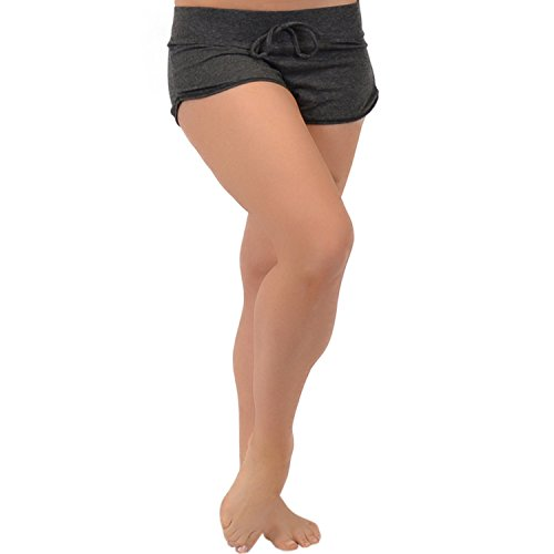 Stretch is Comfort Women's Beachwear Shorty Shorts Charcoal Gray Small ()