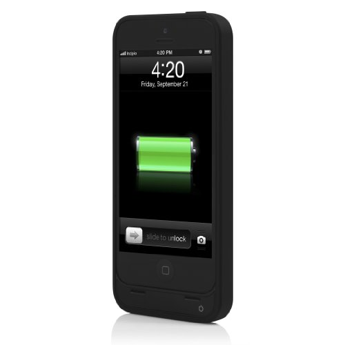 Incipio IPH-1114-BLK offGRID Backup Battery Case-2000Mah for iPhone 5-Retail Packaging-Black