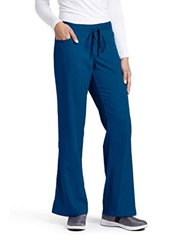Grey's Anatomy Women's Junior-Fit Five-Pocket Drawstring Scrub Pant - Medium Petite - Indigo