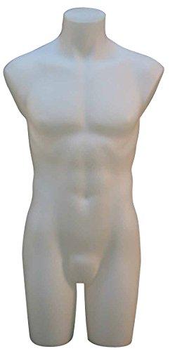 Econoco PETMMW Male 3/4 Torso, No Arms, Milky White
