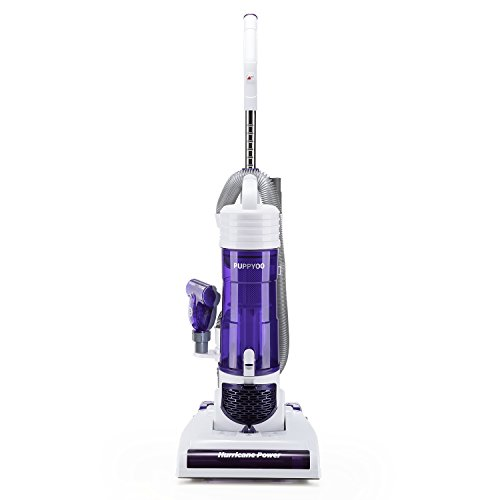PUPPYOO Cyclonic Upright Vacuum Cleaner Bagless Powerful Lightweight Vacuums White S7