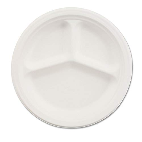- Chinet 21204CT Paper Dinnerware, 3-Comp Plate, 10 1/4