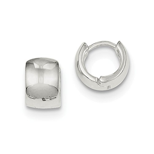 Sterling Silver Huggie-Style Earrings (Approximate Measurements 8mm x 6mm)