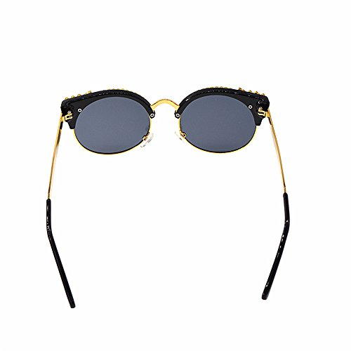 Gafas de polarizadas Gafas de estilo vintage sol barrocas gafas de de de Ojos sol tonos diseñador de la gato Gafas de moda sol mujeres playa de de personalidad Brillante cristal para sol Novedad la de TZ6xwc
