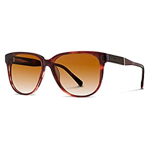 Shwood - McKenzie Acetate, Sustainability Meets Style, Sangria/Ebony, Brown Fade Lenses