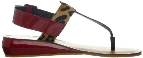 Kelsi Dagger Brooklyn Womens Genova Wedge Sandal Black/Leopard