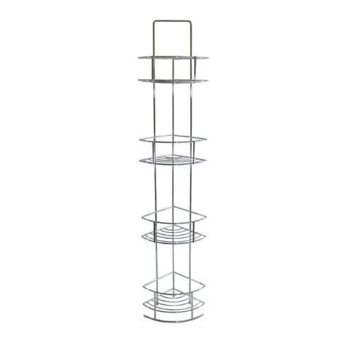 Chrome Corner Bathroom Storage Caddy Shelving: Amazon.co.uk: Kitchen U0026 Home