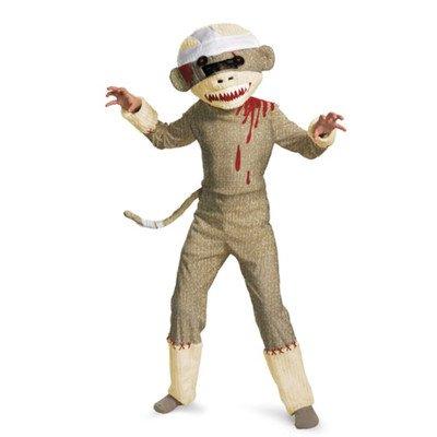 Disguise Zombie Sock Monkey Boys Costume, (Sock Monkey Costume For Adults)