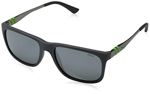 Polo Ralph Lauren  Men's 0PH4088 Matte Grey - Polo Warranty Sunglasses