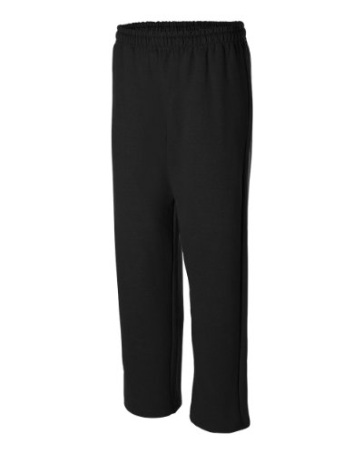 Gildan Activewear Heavyweight Blend Open Bottom Sweatpants, L, - Bottom Open Sweatpant Heavyweight