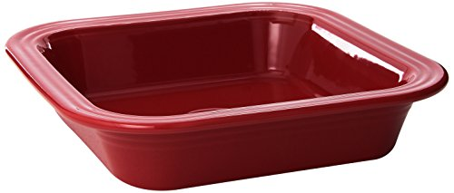Fiesta 9-Inch by 9-Inch Square Baker, Scarlet - Au Stainless Dish Steel Gratin