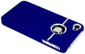 Avcibase TPU Bumper Schutz Hülle für Apple iPhone 4/4S chrome blau