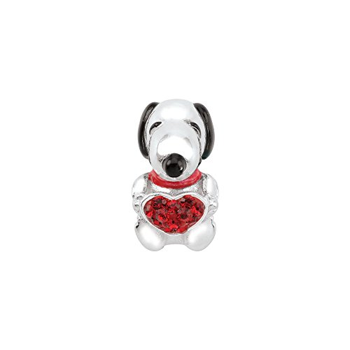 Persona Sterling Silver Snoopy Love Charm Fits Pandora