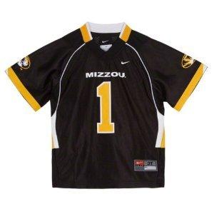 Nike Missouri Tigers #1 Toddler Replica Football Jersey - Black (4T) (Missouri Jersey Tigers)