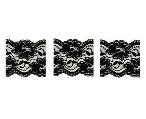 Delphi Black Enamel Lace Decals - 3 -