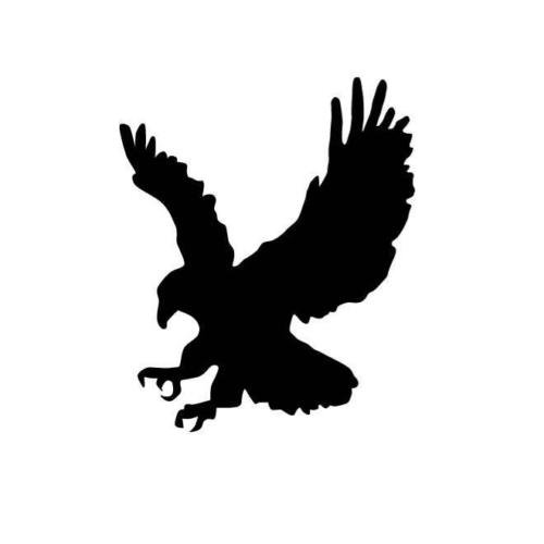 EAGLE STRIKING SILHOUETTE CAR DECAL STICKER, White, 16 Inch, Die Cut Vinyl Decal, For Windows, Cars, Trucks, Toolbox, Laptops, Macbook-virtually Any Hard Smooth (Eagle Die Cut Vinyl Decal)