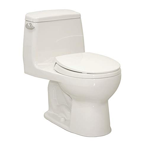 Gallon 1.6 Cotton Flush - TOTO Ultramax One Piece Tank Toilet, 1.6 Gallons per Flush, Cotton