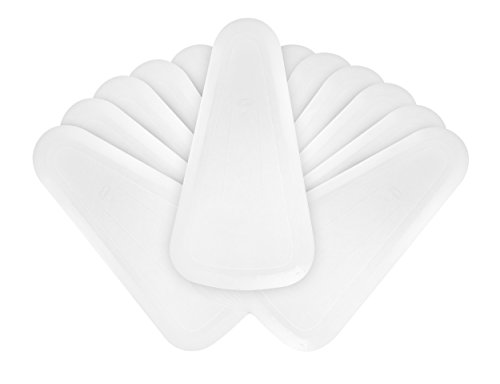 Ateco 1321 Fan Shaped Bowl Scraper Set, 12-Pieces, Flexible Food-safe Plastic by Ateco