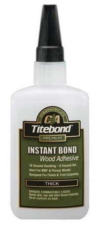 10 Pack Franklin 6222 Titebond Instant Bond Thick Wood Adhesive - 4-oz Bottle by Titebond