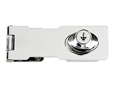 Yale Y145//190//BK Heavy Duty Hinged Hasp Black suitable for outdoor pack of 1 190mm