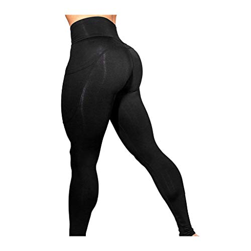 74d4239c1c6a URIBAKE ❤ Women's Workout Leggings Mid Waist Solid Fitness Sports Gym  Running Yoga Athletic Pants Black