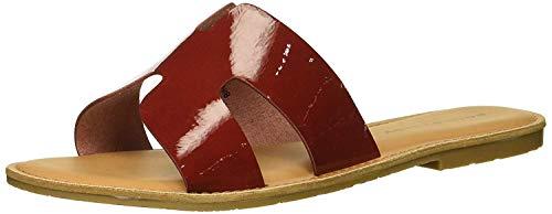 Rock & Candy Women's BINDY Flat Sandal, red Patent, 6.5 Medium US ()