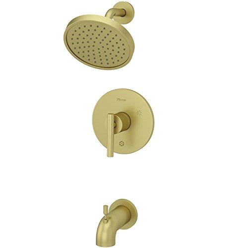 - Pfister LG898NCBG Contempra 1-Handle Tub and Shower Trim, Brushed Gold