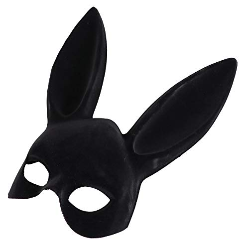 LUOEM Adult Bunny Mask Women's Masquerade Rabbit Mask Bunny Rabbit Mask for Birthday Party Easter Bar Costume Cosplay Accessory -
