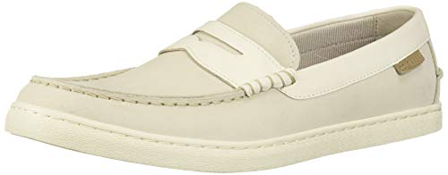Cole Haan Men's Nantucket Loafer II, Pumice Stone/Pristine, 8 M US (Shoes Beige Sneaker Suede)