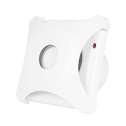 Hon&Guan 4'' Home Ventilation Fan Bathroom Garage Exhaust Fan Window and Wall Mount Fan for Kitchen/Bathroom, Super Silent(Energy-Saving) - Hon Narrow Box