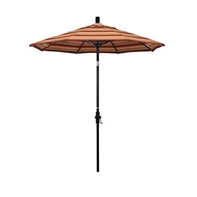 "California Umbrella GSCUF758117-56095 Sun Master Series Patio Umbrella, 7.5' Rd, Astoria Sunset - Overall dimensions (l x w x h): 90"" x 90"" x 102 Crank lift with Easy Glide Collar Tilt makes this a superior product; Frame is constructed of rust free aluminum Canopy is made from Sunbrella 100% solution dyed acrylic fabric with built in UV protection designed to stand up to the elements - shades-parasols, patio-furniture, patio - 31rXeXfz  L. SS400  -"