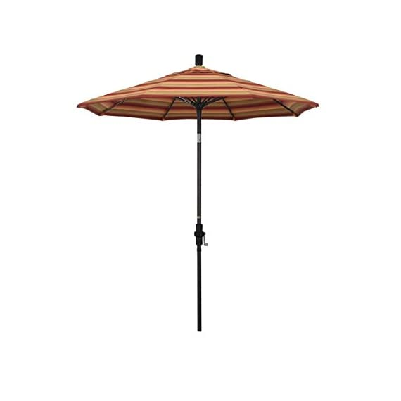 """California Umbrella GSCUF758117-56095 Sun Master Series Patio Umbrella, 7.5' Rd. Astoria Sunset - Overall dimensions (l x w x h): 90"""" x 90"""" x 102 Crank lift with Easy Glide Collar Tilt makes this a superior product; Frame is constructed of rust free aluminum Canopy is made from Sunbrella 100% solution dyed acrylic fabric with built in UV protection designed to stand up to the elements - shades-parasols, patio-furniture, patio - 31rXeXfz  L. SS570  -"""
