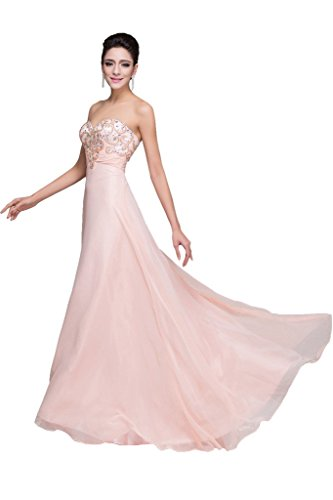sera a scollo line abito perline Prom A Fest ivyd Rosa cuore Exquisite ressing di Donna w0xn0O4qT
