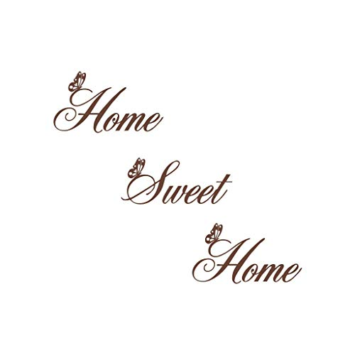 Decorative Wall Sticker - Home Sweet Home - English Language Stickers Wall/Waterproof/Removable/Self-Adhesive Wall Window Decoration, Vinyl Decal Background Sticker