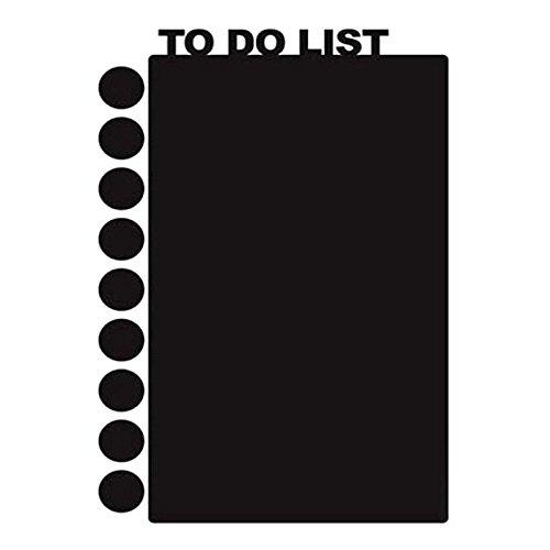 Homeford Firefly Imports to Do List Chalkboard Wall Sticker, 11-Inch, Black -