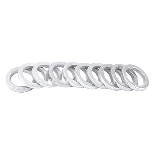 Chainring Spacer - Baosity Pack of 10pcs Bike Chainwheel Screw Chainring Washer Gasket Bicycle Dual to Single Chain Wrench Spacer 2mm Thick