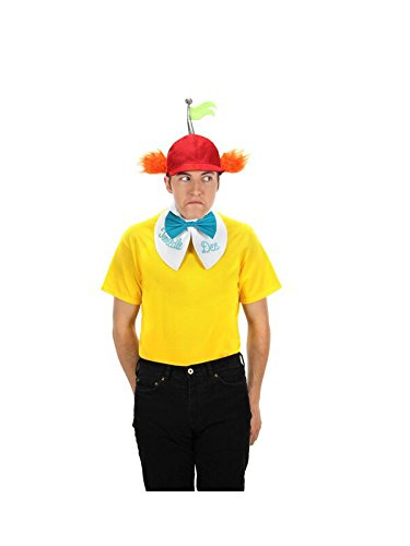 Disney Tweedle Dee & Tweedle Dum Hat, Collar & Tie Kit -elope - Wonderland Tie