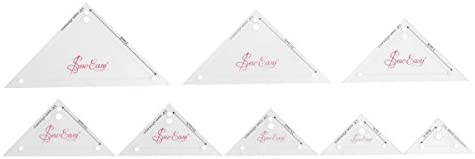 0.75/'/' Sew Easy Patchwork Template Set Mini Right Angled Triangle 8 Sizes ...